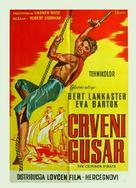The Crimson Pirate - Yugoslav Movie Poster (xs thumbnail)