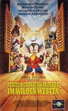 An American Tail: Fievel Goes West - German VHS movie cover (xs thumbnail)