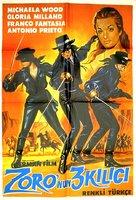 Le tre spade di Zorro - Turkish Movie Poster (xs thumbnail)