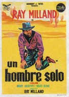 A Man Alone - Spanish Movie Poster (xs thumbnail)
