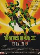 Teenage Mutant Ninja Turtles III - French Movie Poster (xs thumbnail)