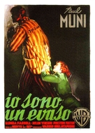 I Am a Fugitive from a Chain Gang - Italian Movie Poster (xs thumbnail)