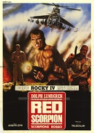 Red Scorpion - Italian Movie Poster (xs thumbnail)