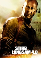 Live Free or Die Hard - German Movie Poster (xs thumbnail)