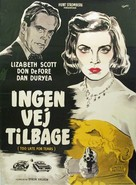 Too Late for Tears - Danish Movie Poster (xs thumbnail)