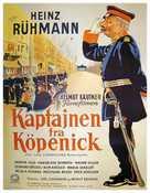 Hauptmann von Köpenick, Der - Danish Movie Poster (xs thumbnail)