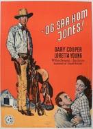 Along Came Jones - Danish Movie Poster (xs thumbnail)