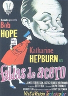 The Iron Petticoat - Spanish Movie Poster (xs thumbnail)