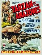 Tarzan and the Amazons - Belgian Movie Poster (xs thumbnail)