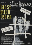I Want to Live! - German Movie Poster (xs thumbnail)