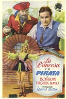 The Princess and the Pirate - Spanish Movie Poster (xs thumbnail)