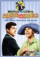 Artists and Models - Danish DVD movie cover (xs thumbnail)