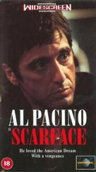 Scarface - British VHS cover (xs thumbnail)