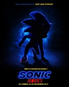 Sonic the Hedgehog - French Movie Poster (xs thumbnail)