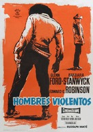 The Violent Men - Spanish Movie Poster (xs thumbnail)
