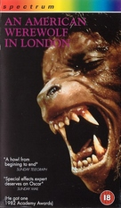 An American Werewolf in London - British VHS movie cover (xs thumbnail)
