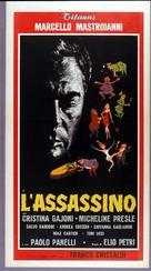 L'assassino - Italian Movie Poster (xs thumbnail)