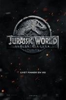 Jurassic World: Fallen Kingdom - Norwegian Movie Poster (xs thumbnail)