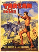 Tarzan Goes to India - French Movie Poster (xs thumbnail)