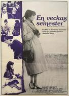 Une semaine de vacances - Swedish Movie Poster (xs thumbnail)