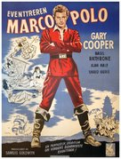 The Adventures of Marco Polo - Danish Movie Poster (xs thumbnail)