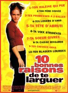 10 Things I Hate About You - French Movie Poster (xs thumbnail)
