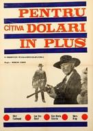 Per qualche dollaro in più - Romanian Movie Poster (xs thumbnail)