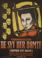 Justice est faite - Danish Movie Poster (xs thumbnail)