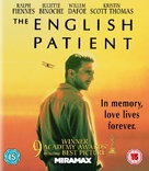 The English Patient - British Blu-Ray movie cover (xs thumbnail)