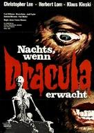 Nachts, wenn Dracula erwacht - German Movie Poster (xs thumbnail)