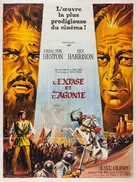 The Agony and the Ecstasy - French Movie Poster (xs thumbnail)