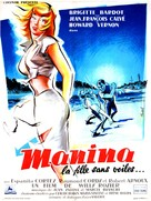 Manina, la fille sans voiles - French Movie Poster (xs thumbnail)