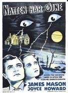 The Night Has Eyes - Danish Movie Poster (xs thumbnail)