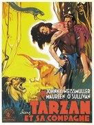 Tarzan and His Mate - French Movie Poster (xs thumbnail)