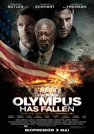 Olympus Has Fallen - Swedish Movie Poster (xs thumbnail)