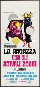 La femme aux bottes rouges - Italian Movie Poster (xs thumbnail)