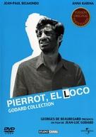 Pierrot le fou - Spanish DVD cover (xs thumbnail)