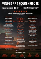 Three Billboards Outside Ebbing, Missouri - Danish Movie Poster (xs thumbnail)