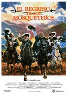 The Return of the Musketeers - Spanish Movie Poster (xs thumbnail)