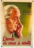 L'homme qui cherche la vérité - Italian Movie Poster (xs thumbnail)