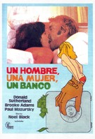 A Man, a Woman and a Bank - Spanish Movie Poster (xs thumbnail)