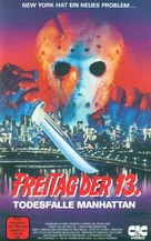 Friday the 13th Part VIII: Jason Takes Manhattan - German VHS cover (xs thumbnail)