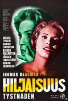 Tystnaden - Finnish Movie Poster (xs thumbnail)