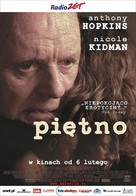 The Human Stain - Polish Movie Poster (xs thumbnail)