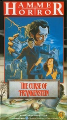 The Curse of Frankenstein - Dutch VHS movie cover (xs thumbnail)