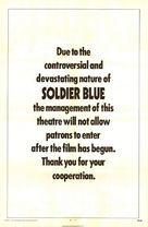 Soldier Blue - Theatrical poster (xs thumbnail)