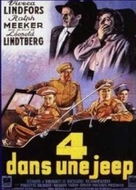 Die Vier im Jeep - French Movie Poster (xs thumbnail)