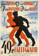 49th Parallel - Swedish Movie Poster (xs thumbnail)