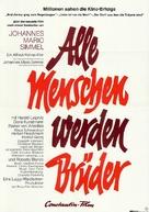 Alle Menschen werden Brüder - German Movie Poster (xs thumbnail)