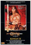 Conan The Destroyer - Yugoslav Movie Poster (xs thumbnail)